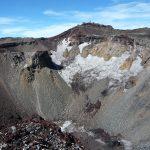這便是富士山的火山口,有2百米深。